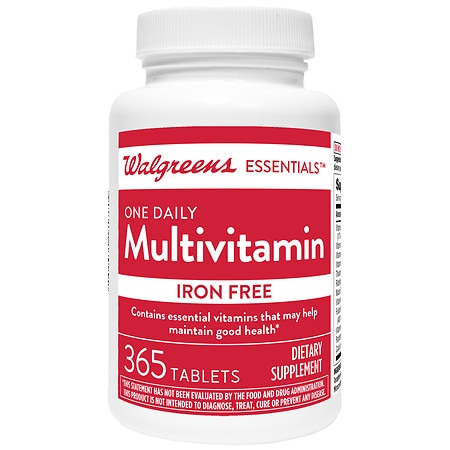 walgreens one daily multivitamin without iron tablets