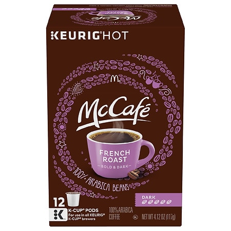 McCafe Dark French Roast Coffee K-Cup Pods, Caffeinated French roast - 0.34 oz x 12 pack