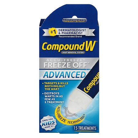 Compound W Wart Removal System Freeze Off Advanced Treatment - 15 Applications