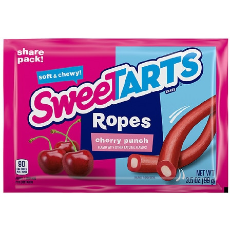 Wonka Sweetarts Chewy Ropes Share Pack Cherry Punch - 3.5 oz.