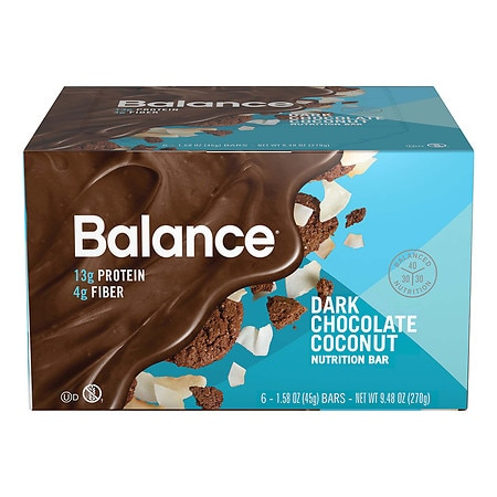 Balance Bar Nutrition Bar Dark Chocolate Coconut - 1.58 oz. x 6 pack