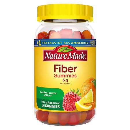 Nature Made Fiber Adult Gummies Assorted Fruit - 90 ea