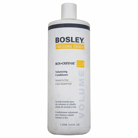Bosley Professional Strength Bos-Defense Volumizing Conditioner, Normal To Fine Color-Treated Hair - 33.8 oz.