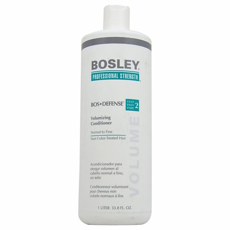 Bosley Professional Strength Bos-Defense Volumizing Conditioner, Normal - Fine Non Color-Treated Hair - 33.8 oz.