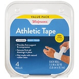 "Walgreens 1.5"" Athletic Tape Rolls 1.5 inch White"