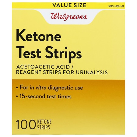 Walgreens Ketone Test Strips - 100 ea