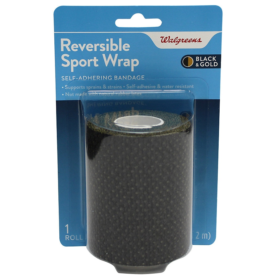 Walgreens Reversible Sport Wrap Self Adhering Bandage Roll 3 In X
