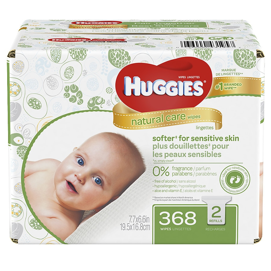Huggies Natural Care Baby Wipes Refill Pack Fragrance