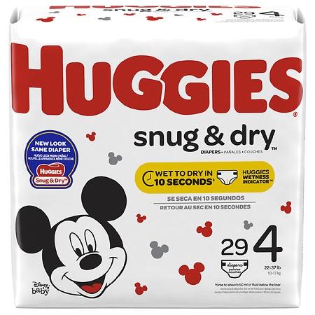 Huggies Snug & Dry Diapers, Size 4 - 29 ea