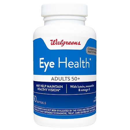 Walgreens Eye Health for Adults 50+, Softgels - 90 ea