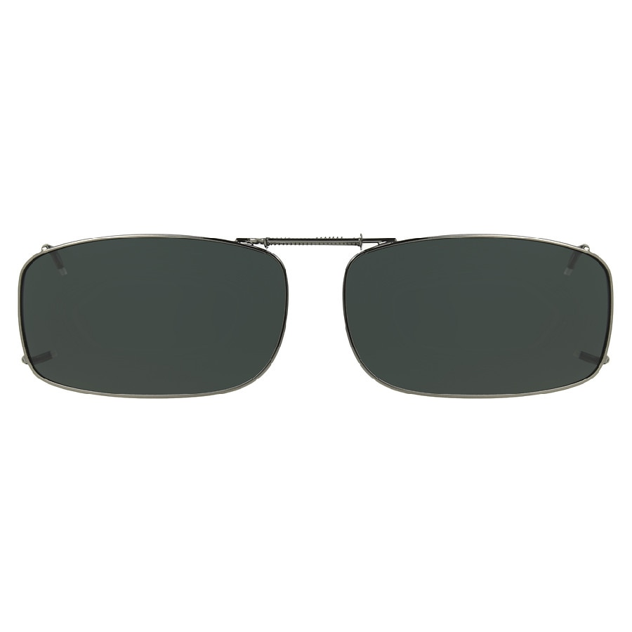 8e1da853e70 Solar Shield Clip On Sunglasses PTX REC15 56 Polarized Gray Gunmetal