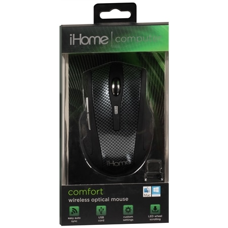 iHome Wireless Optical Mouse Comfort IH-391C - 1 ea