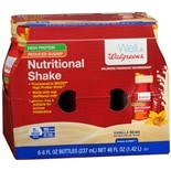 Walgreens Nutritional Shakes Reduced Sugar High Protein Vanilla Bean
