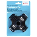 Walgreens Quad Support Cane Tip Black