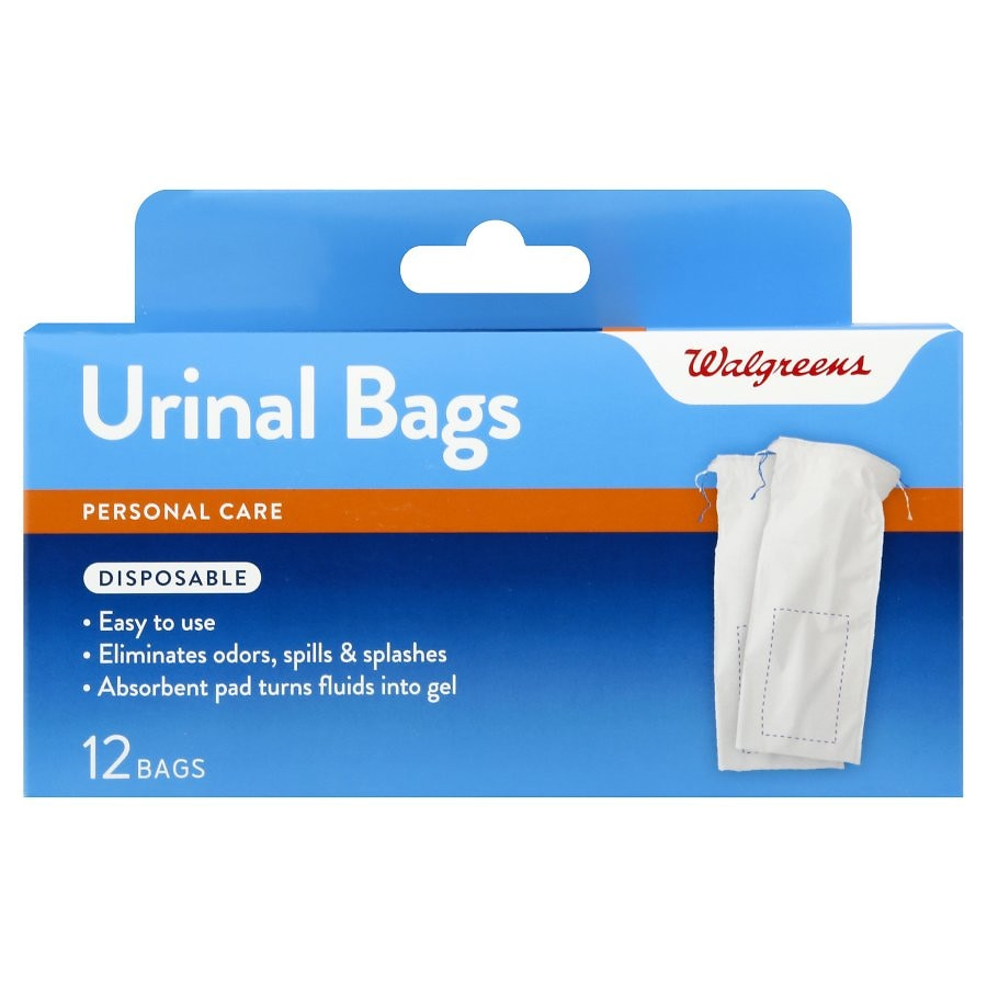 Walgreens Disposable Urinal Bag with Absorbent Pad for Men