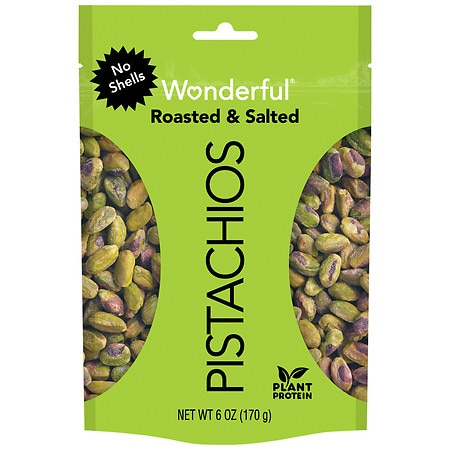 Wonderful No Shell Pistachios Roasted & Salted - 6 oz.