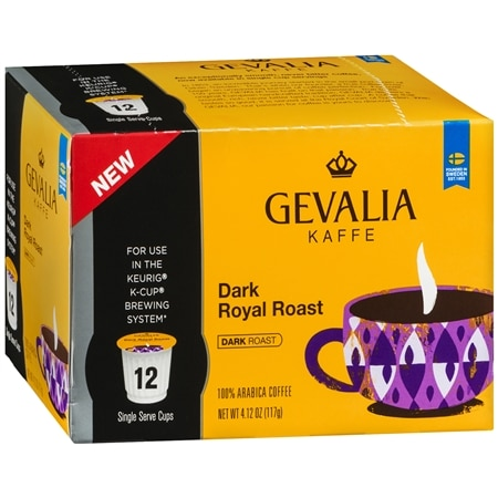 Image of Gevalia Single Cups Coffee Dark Royal Roast - 0.34 oz. x 12 pack