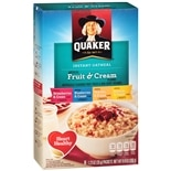 Quaker Instant Oatmeal Variety Pack Fruit & Cream Flavors