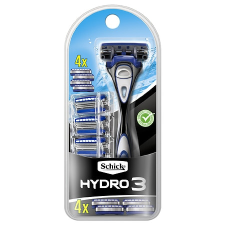 Schick Hydro Razor 3 Blade System With Cartridges - 1 ea