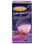 Emergen-C Emergen-zzzz Nighttime Sleep Aid with Melatonin Mellow Berry