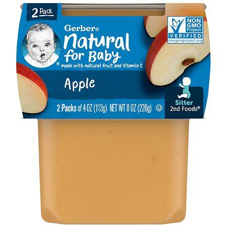 Gerber 2F Puree Tub Apples - 4 oz. x 2 pack