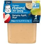 Gerber 2F Puree Tub Bananas with Apples & Pears