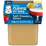 Gerber 2F Puree Tub Apple Strawberry Banana