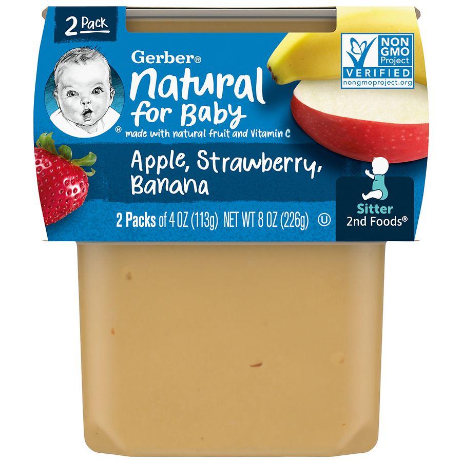 Gerber 2F Puree Tub Apple Strawberry Banana | Walgreens