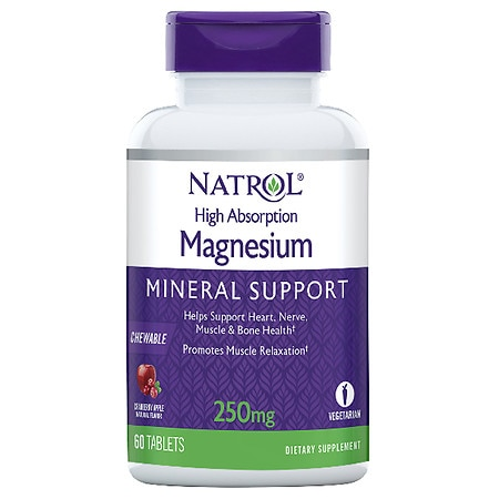 Natrol High Absorption Magnesium Cranberry Apple - 60 ea