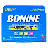 Bonine Antiemetic Chewable Tablets Raspberry
