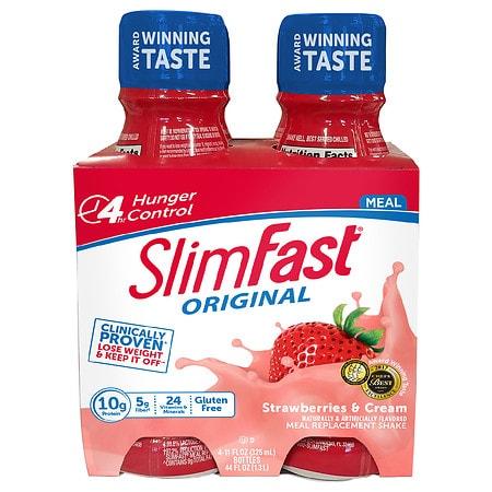 SlimFast Ready to Drink Strawberries & Cream - 11 oz. x 4 pack