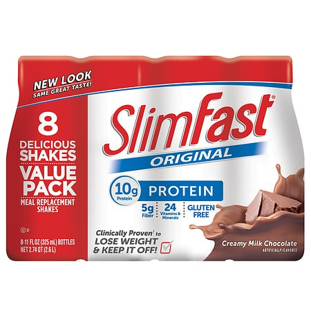 SlimFast Ready to Drink Meal Replacement Shake Creamy Milk Chocolate - 11 oz. x 8 pack
