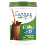 SlimQuick Pure Weight-Loss Protein Powder Chocolate, Double Chocolate