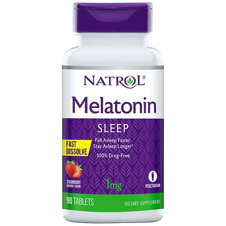 Natrol Melatonin Fast Dissolve Tablets Strawberry - 90 ea