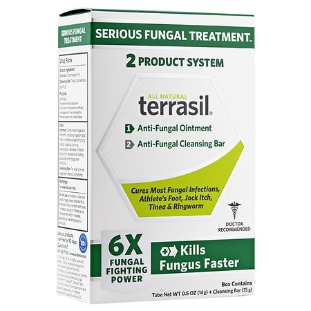 Terrasil Anti-Fungal Ointment Plus Medicated Cleansing Bar - 1 ea
