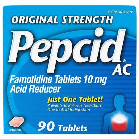 Pepcid AC Acid Reducer Tablets Original Strength - 90 ea
