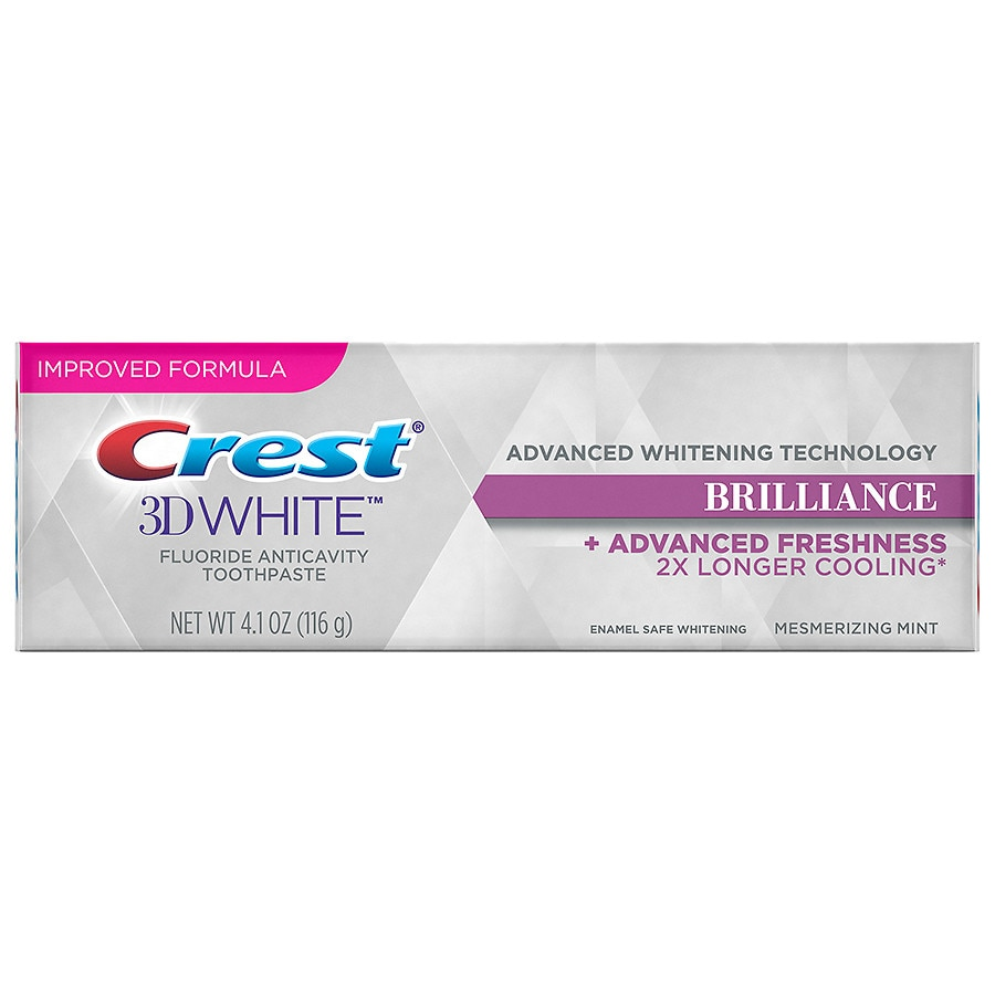 Crest 3d White Brilliance Teeth Whitening Toothpaste Mesmerizing