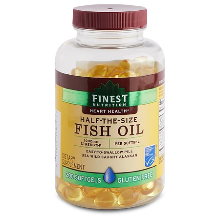 Finest nutrition half the size fish oil 1000 mg softgels for Finest nutrition fish oil