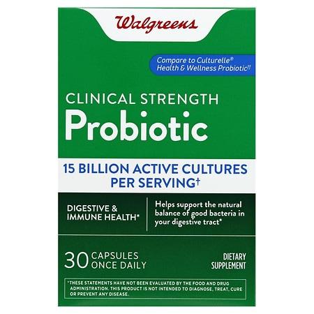 Walgreens Probiotic Lactobacillus GG Capsules - 30 ea