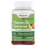 Walgreens Vitamin D3 2000 IU Gummies Fruit