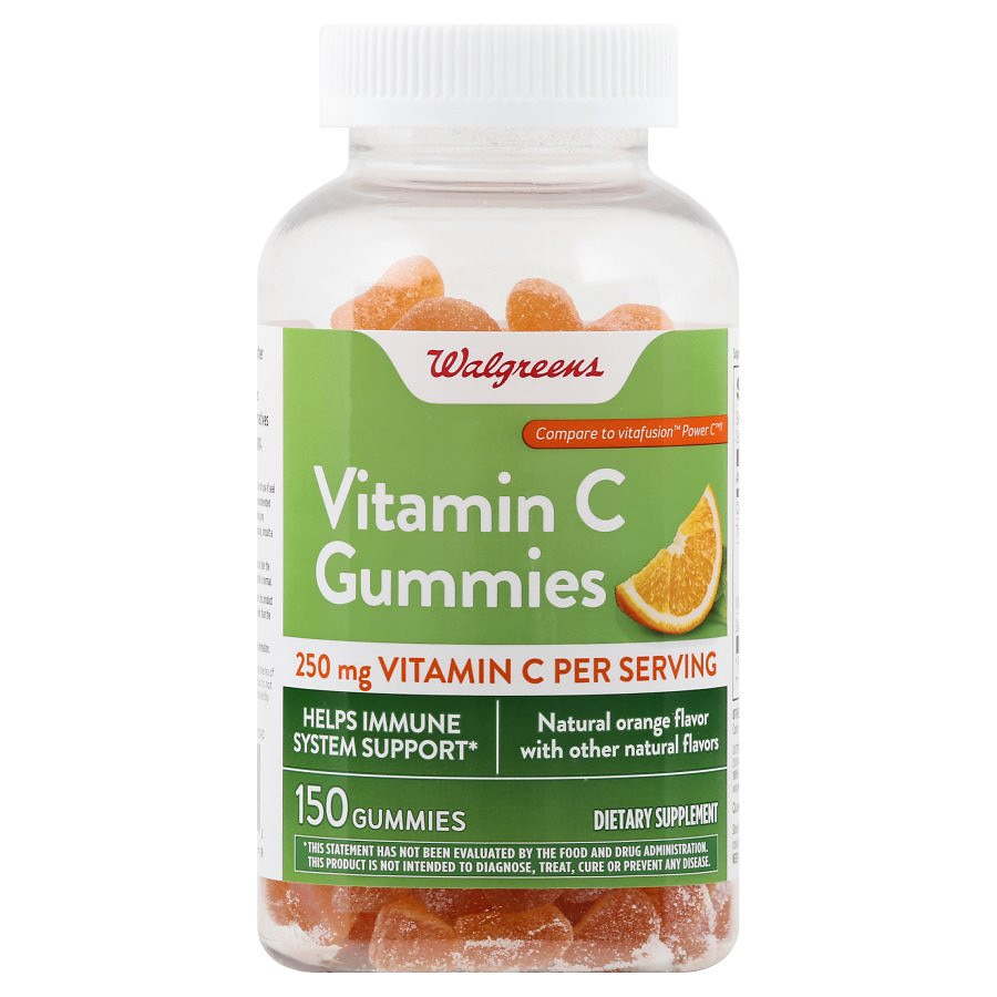 Walgreens Vitamin C 250 mg Gummies Orange | Walgreens