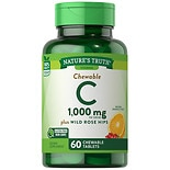 Nature's Truth Chewable C 500mg Plus Wild Rose Hips Orange