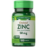 Nature's Truth Chelated Zinc 50mg Zinc Gluconate