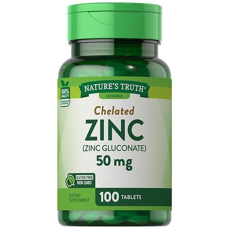 Nature's Truth Chelated Zinc 50mg Zinc Gluconate - 100 ea