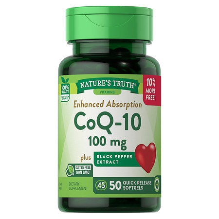 Nature's Truth CoQ-10 100mg Plus Black Pepper Extract - 50 ea