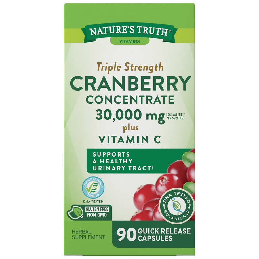 Nature's Truth Ultra Triple Strength Cranberry Concentrate 15,000mg Plus  Vitamin C