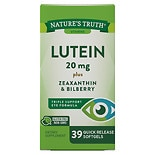 Nature's Truth Lutein 20mg Plus Zeaxanthin & Bilberry