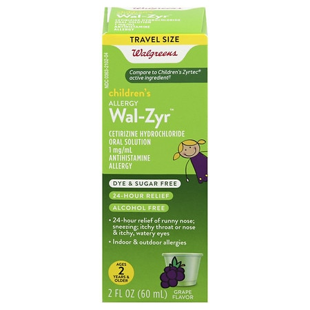 Walgreens Wal-Zyr Children's Sugar Free Dye Free