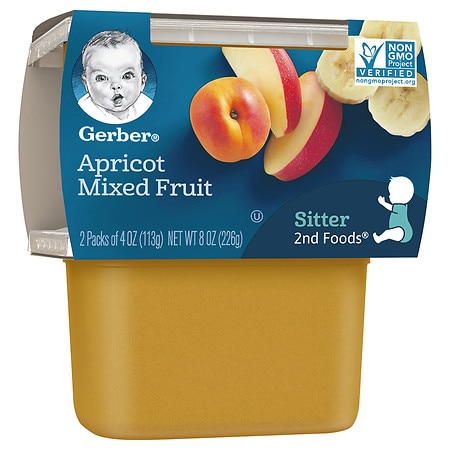 Gerber 2nd Foods Puree Apricot with Mixed Fruit - 4 oz. x 2 pack