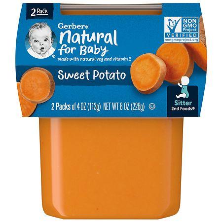 Gerber 2nd Foods Puree Sweet Potatoes - 4 oz. x 2 pack